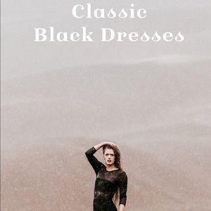Classic Black Dresses!